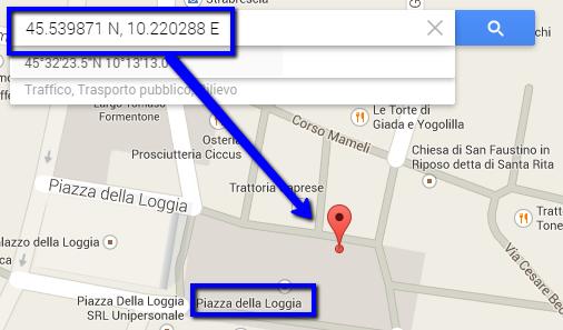 trovare un luogo da una foto su Google Maps