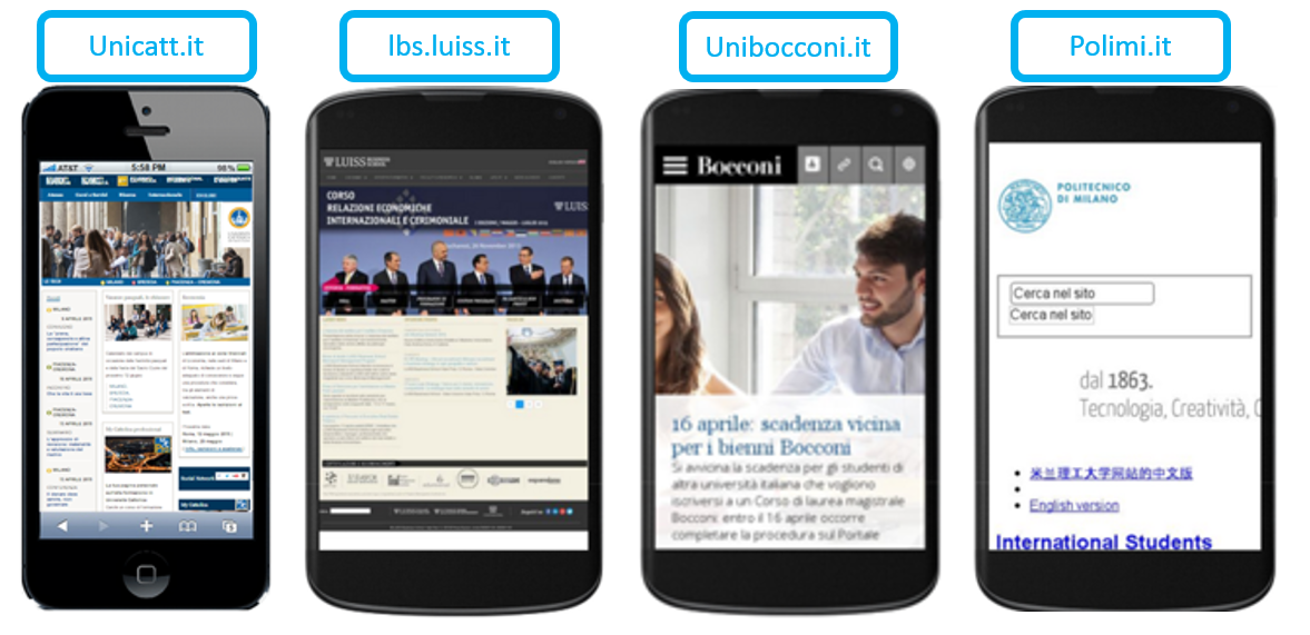 MobileGeddon: Esempio Uiversità Italiane