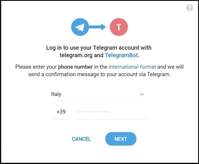widget telegram login