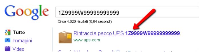 Come cercare su Google tracciamento pacchi internazionali