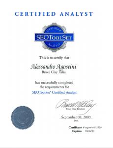 SEOToolSet Certificate
