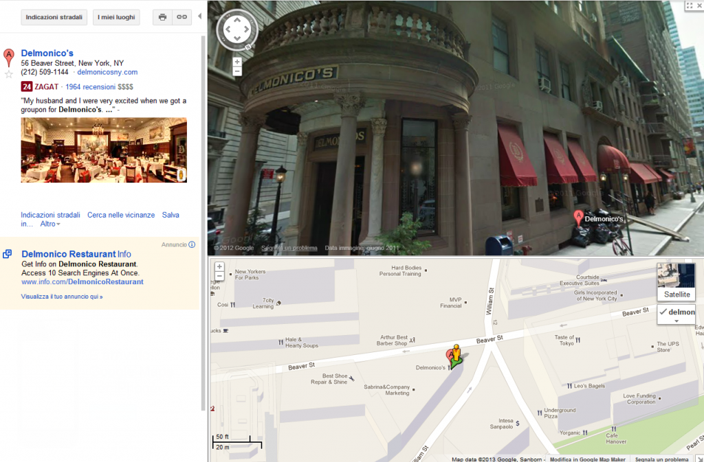 Vista Google Street View su Maps