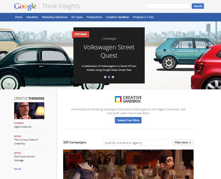 Creative Sandbox Google