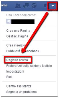 cancellare parte del profilo Facebook