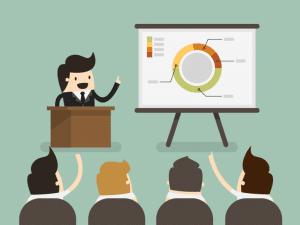 Condurre presentazione efficace