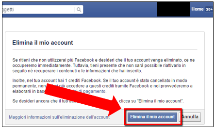 Cancellarsi da Facebook: primo step