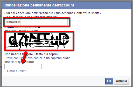 Cancellarsi da Facebook: secondo step